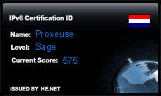 IPv6 Certification Badge for Proxeuse