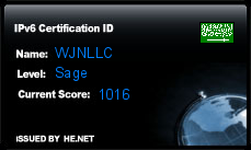 IPv6 Certification Badge for WJNLLC