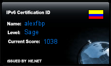IPv6 Certification Badge for alexfbp