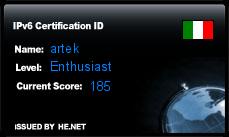 IPv6 Certification Badge for artek