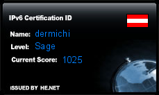 IPv6 Certification Badge for dermichi