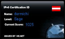 IPv6 Certification Badge for dermichi