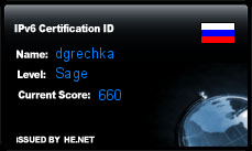 IPv6 Certification Badge for dgrechka