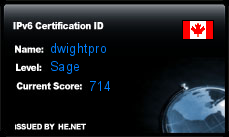 IPv6 Certification Badge for dwightpro