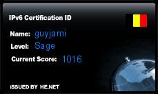 IPv6 Certification Badge for guyjami