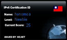 IPv6 Certification Badge for honomoa