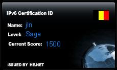 IPv6 Certification Badge for jln