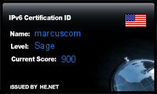 IPv6 Certification Badge for marcuscom