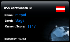 IPv6 Certification Badge for mcpat