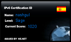 IPv6 Certification Badge for nashgul