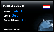 IPv6 Certification Badge for paderijk