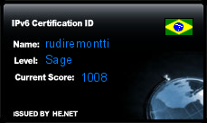 IPv6 Certification Badge for rudiremontti