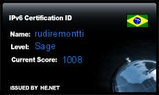 IPv6 Certification Badge for rudiremontti
