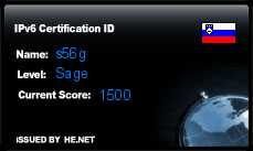 IPv6 Certification Badge for s56g