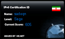 IPv6 Certification Badge for sadeqn